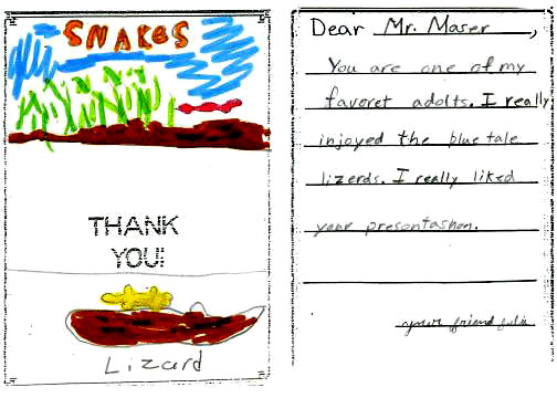 Handwritten Letter Note from a Young Student, Julie